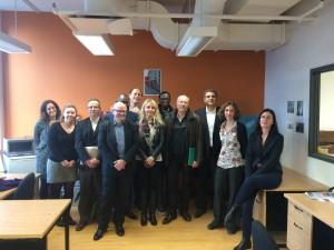 L'équipe des intervenants à la journée d'études à Montréal, Octobre 2015